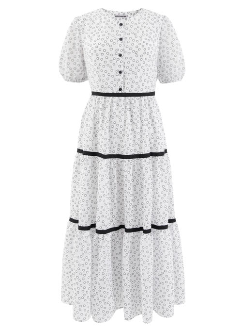 Summer White Cotton Long Dress [Limited Edition]