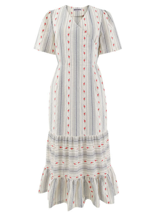 Summer Flower Cotton Long Dress [Limited Edition]