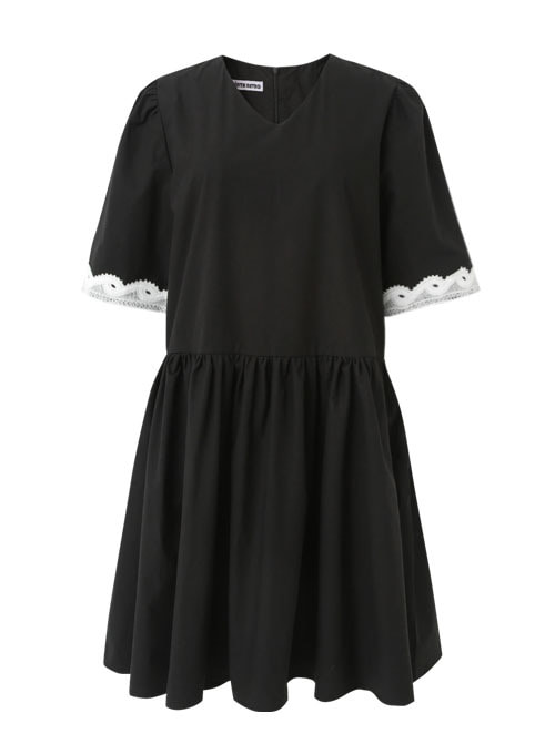 Samo Black Cotton Lace Dress