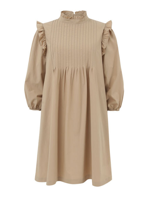 Sophie Beige Cotton Dress