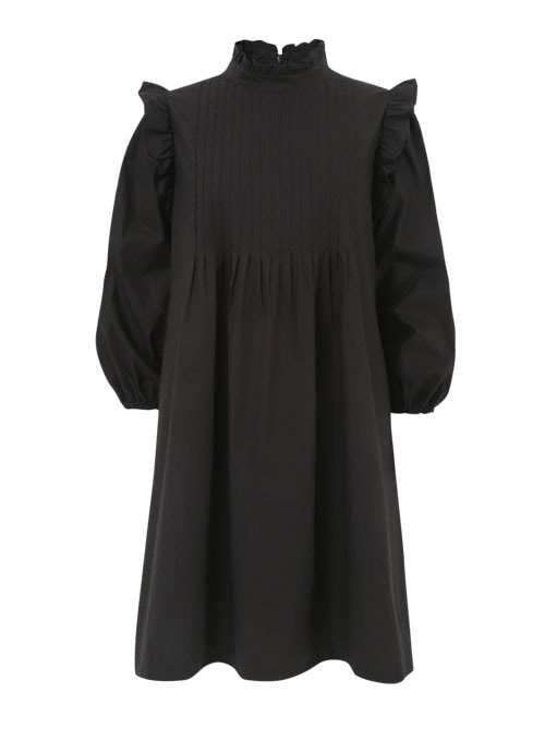 Sophie Black Cotton Dress