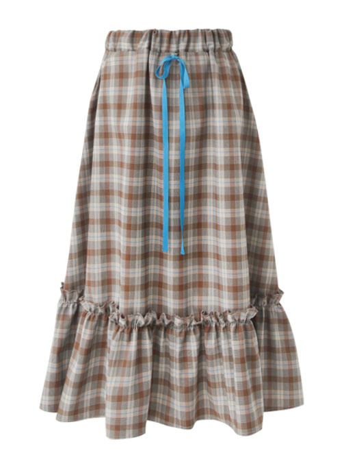 Becca Check Blue Ribbon Skirt