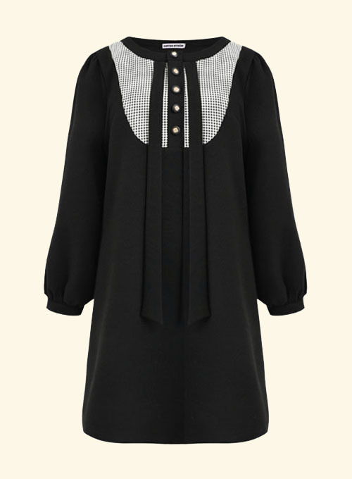 Doha Black Check  Dress