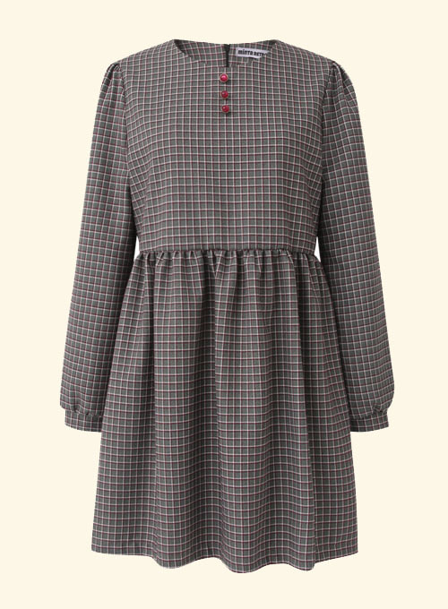 Zain Gray Check Dress