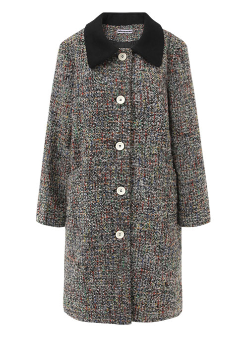 Monica Rainbow Wool Long Coat
