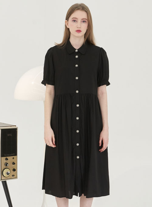 Derry Black Long Dress
