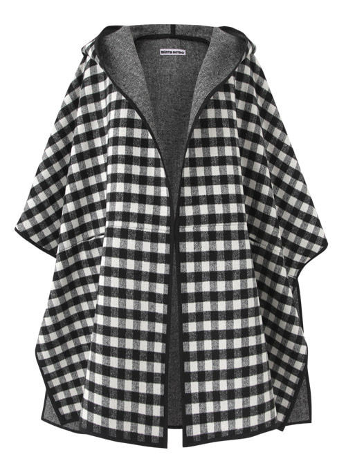 Barbara Check Wool Cape