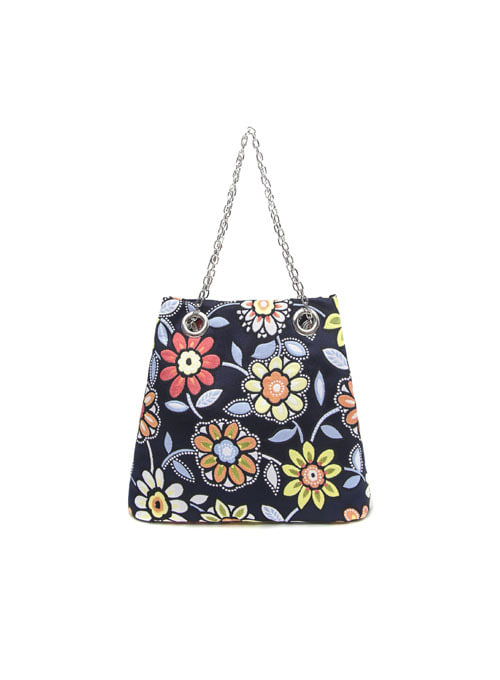 Sea Flower Fabric Chain Bag