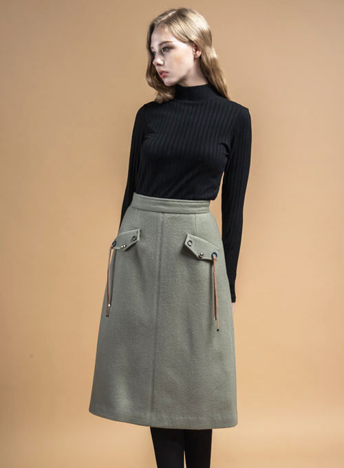 DAPHNE Wool Skirt