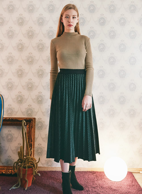 [Limited Edition] Scott Green Pleats Skirt