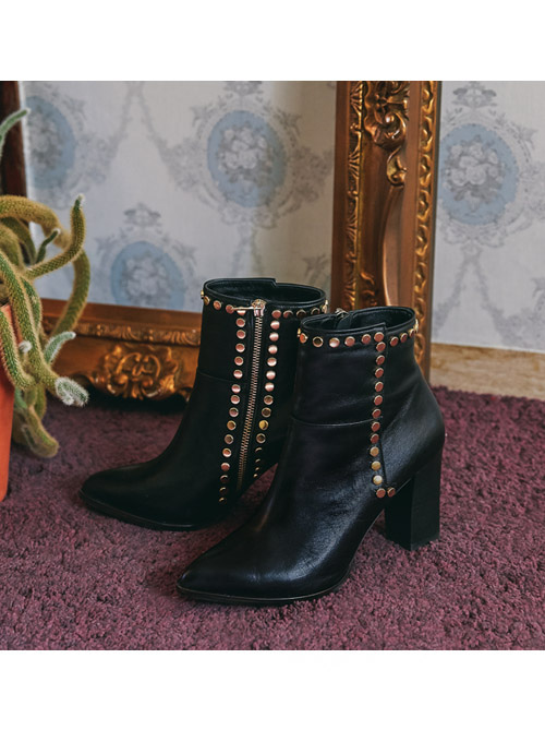 Bella Gold Ankle Boots