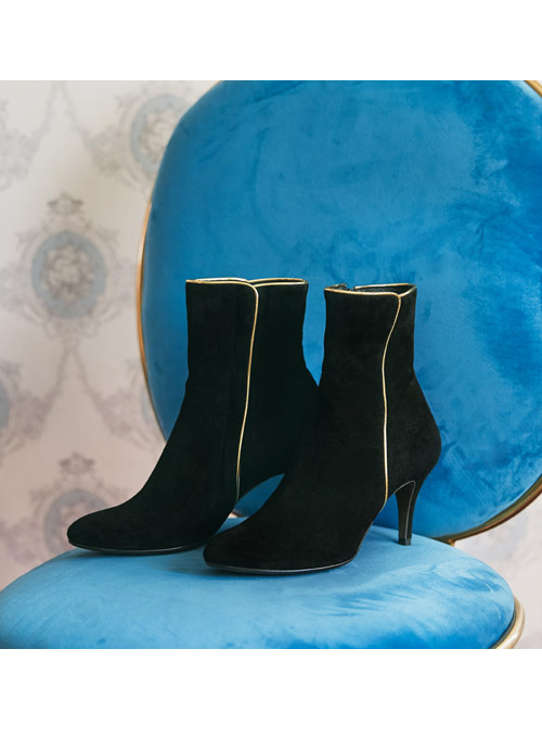 Agatha Gold Ankle Boots