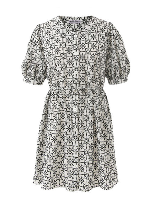 Summer Black Embroidery Cotton Dress [Limited Edition]