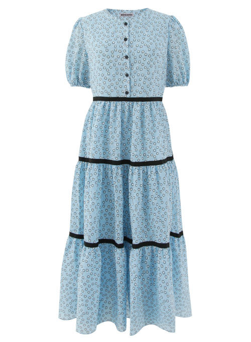 Summer Blue Cotton Long Dress [Limited Edition]
