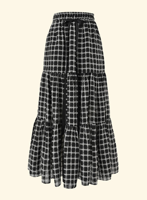 Rookie Shine Ribbon Long Skirt