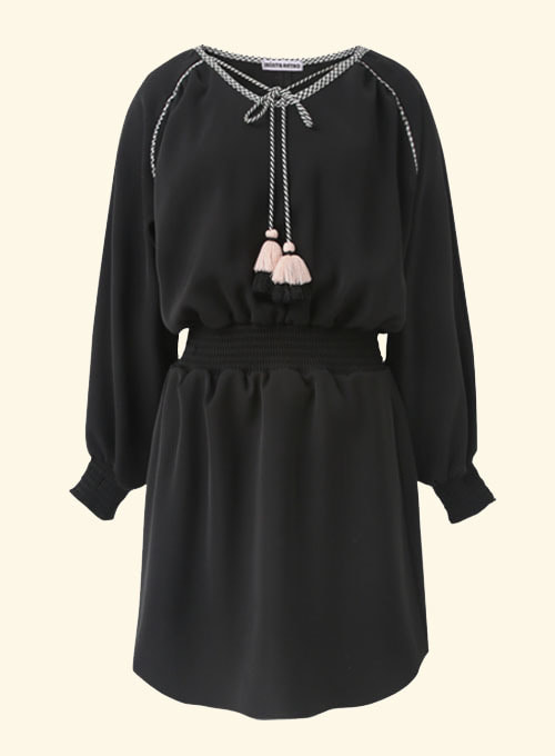 Luna Black Smoke Dress