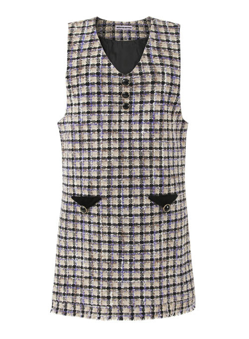 Violet Love tweed Dress