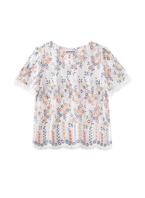 Bliss Lace Flower Top