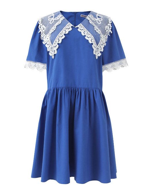 Anika Lace Blue Dress