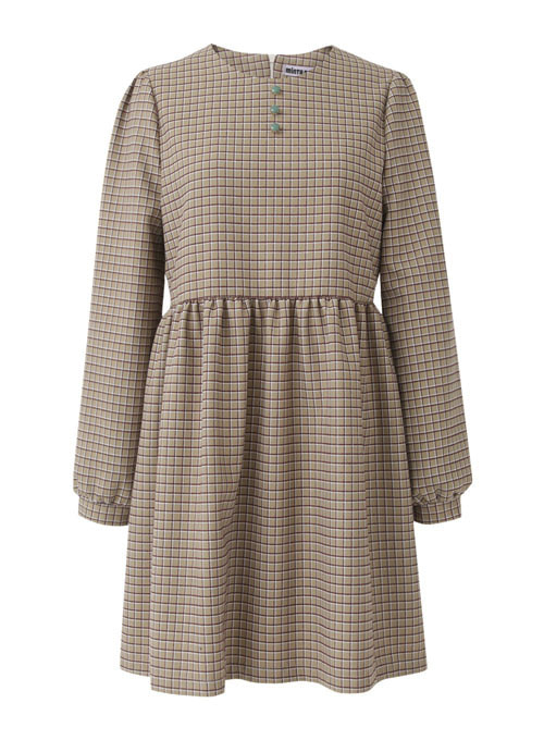 Oatmeal Check Dress