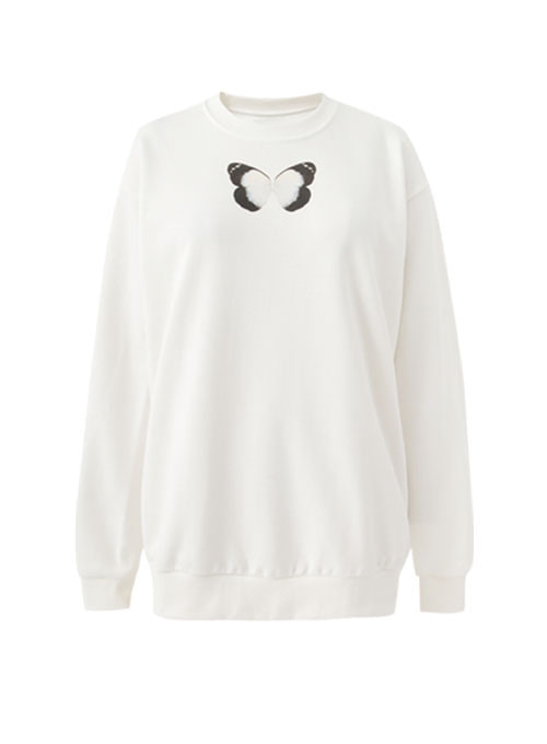 Minta Retro Butterfly Sweatshirt