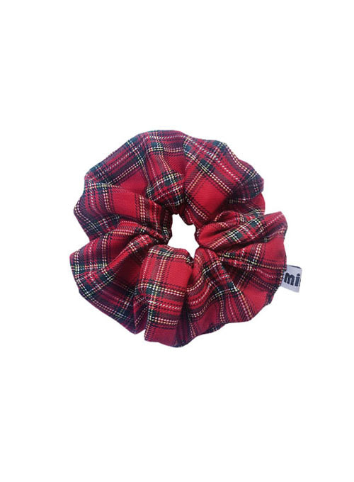 Hedy Red Check Hair Scrunchie