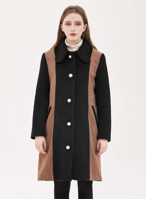 Alexia Wool Check Long Coat