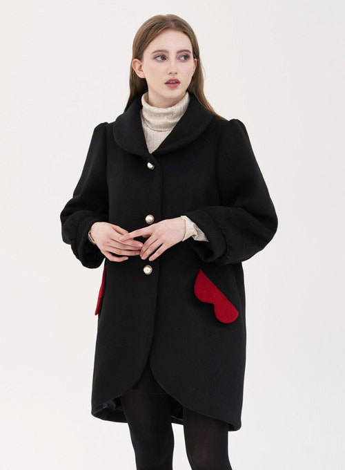 Blondie Heart Long Coat