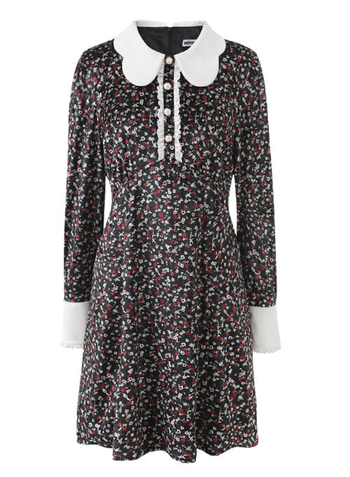 Roxy Flower Velvet Dress
