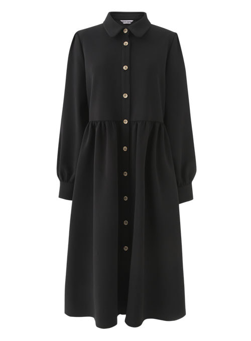 Orbit Black Long Dress (기모안감)