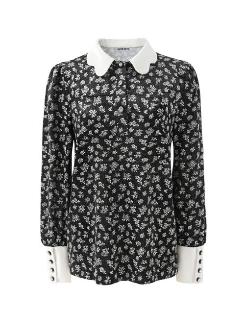 Rola Black Velvet Blouse