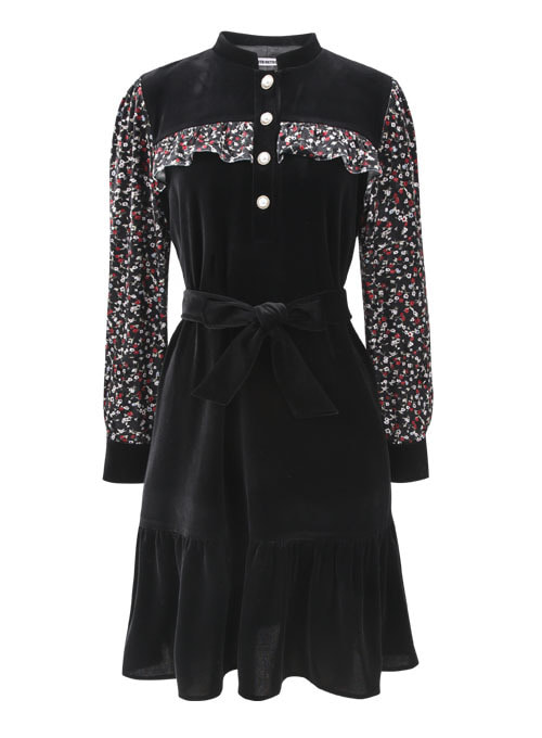 Chichi Flower Velvet Dress