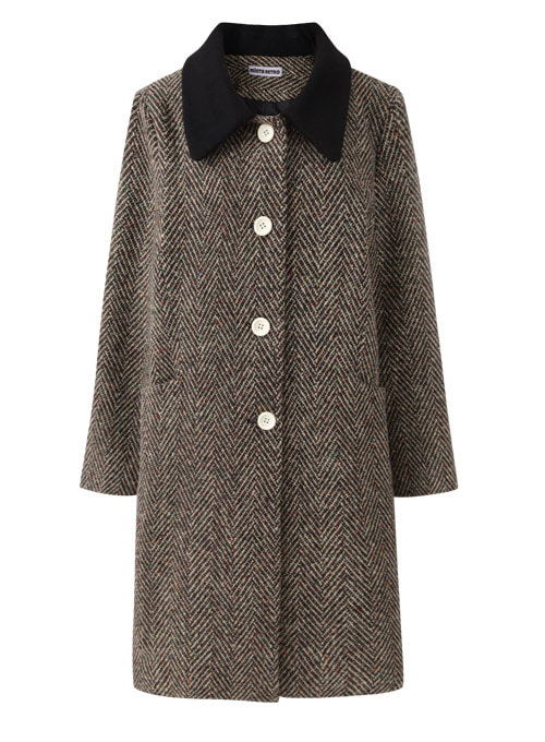 Monica Brown Wool Long Coat