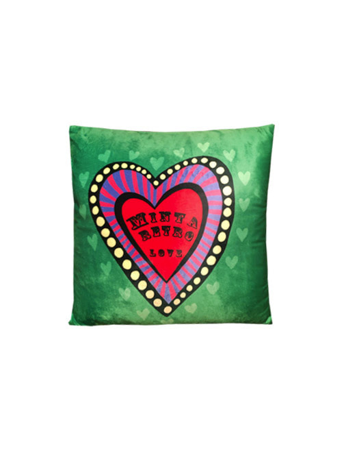 Minta Heart Velour Cushion