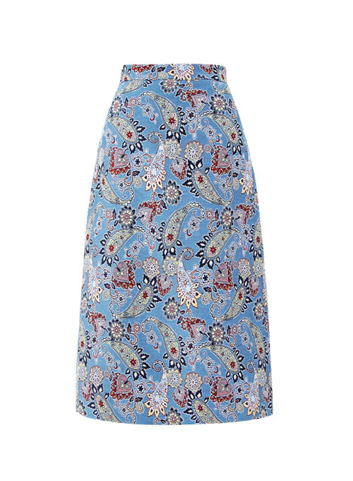 Phila Blue Midi Skirt