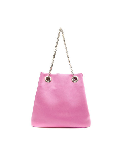 PinkPink Fabric Chain Bag