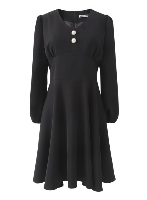 City Pearl Black Dress