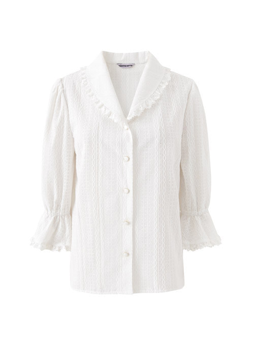 Luni White Lace Blouse
