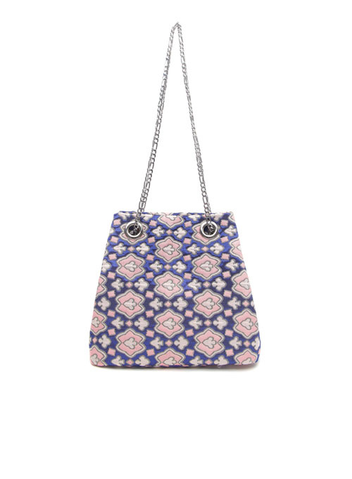Cosmo Fabric Chain Bag