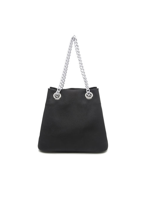 Pang Black Fabric Chain Bag