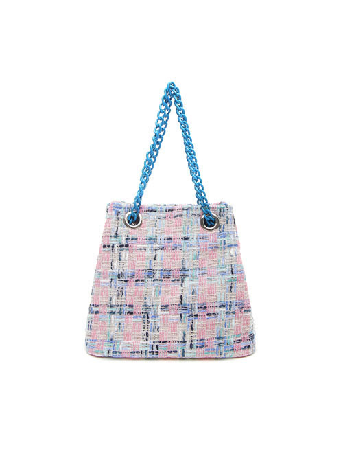 Candy Tweed Fabric Chain Bag