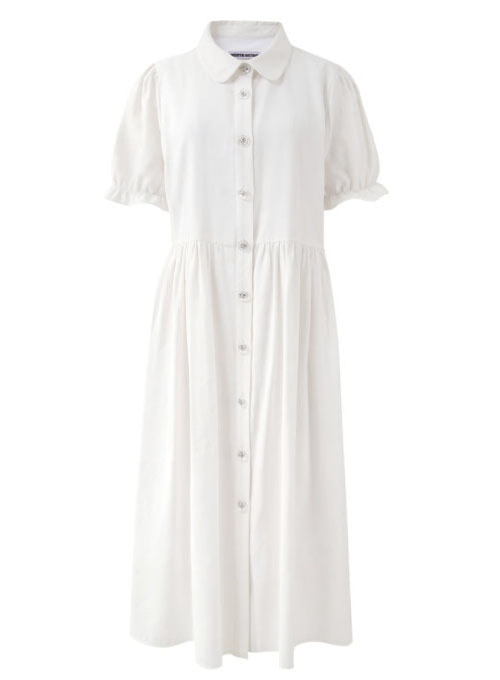 Derry White Long Dress