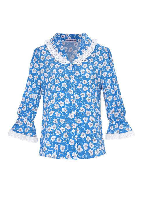 Millie Blue Flower Blouse