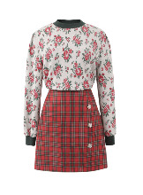 Hedy Red Check Skirt